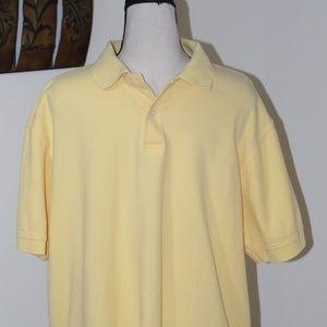 IZOD, yellow polo shirt Large